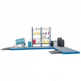 Elementos de suelo modulares de polietileno altura 150 mm
